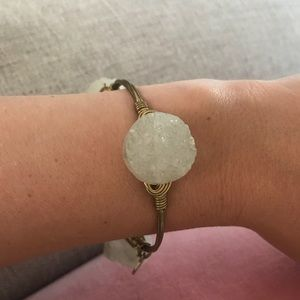White druzy bourbon and bowties bracelet